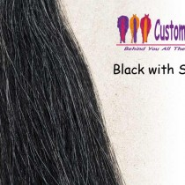 Black with Silver Tail Extensions