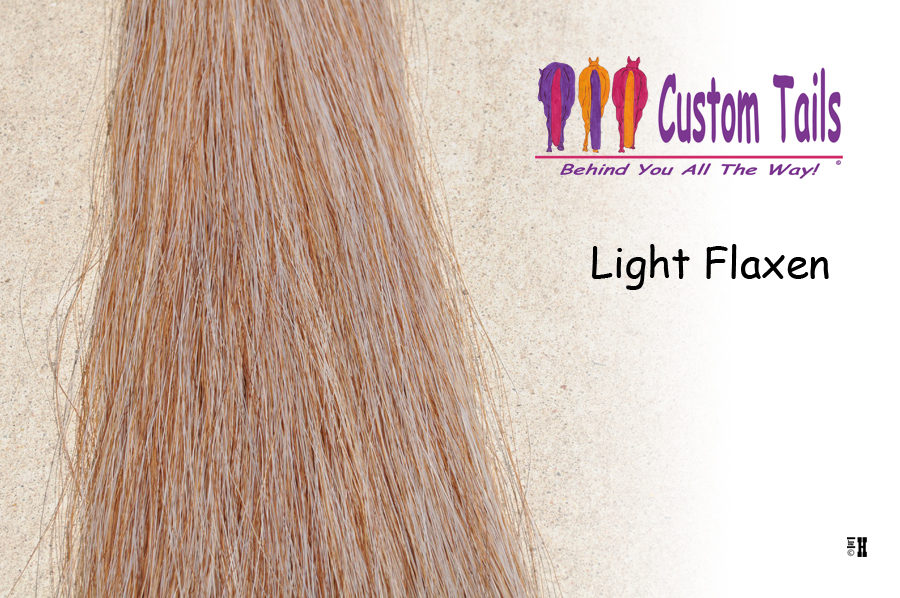 Light Flaxen Tail Extensions Custom Tails