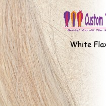 White Flaxen Tail Extensions