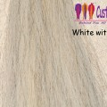 White with Gray Flaxen Tail Extensions